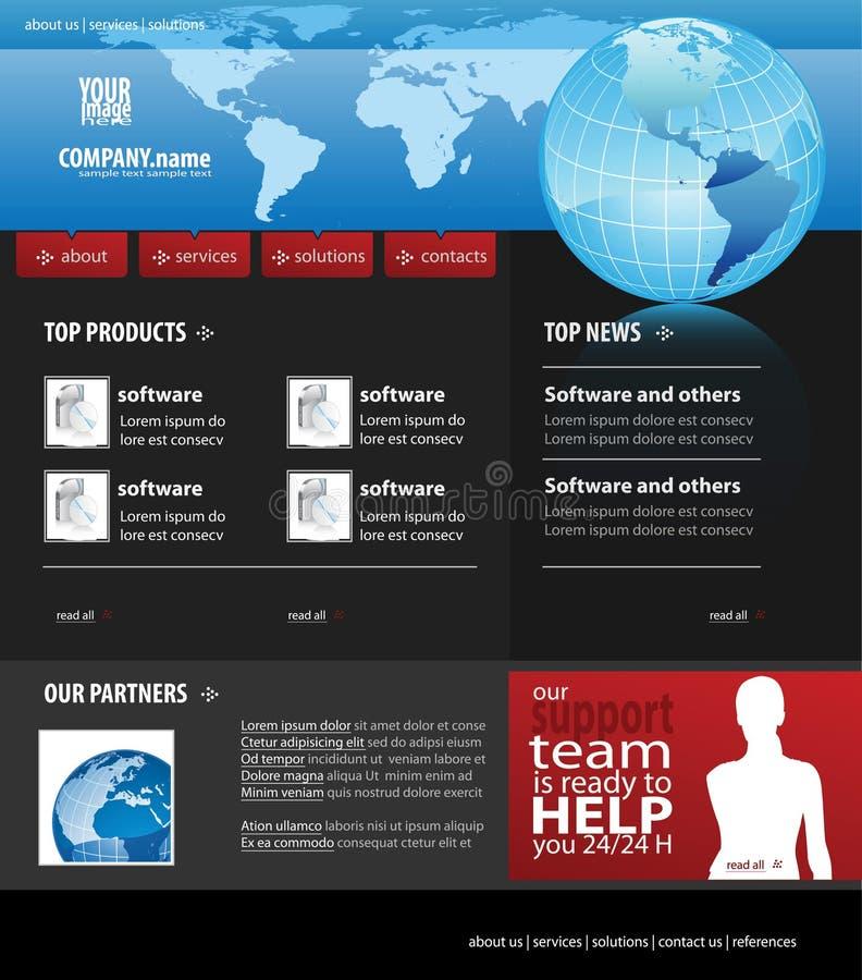 affärsmallwebsite vektor illustrationer