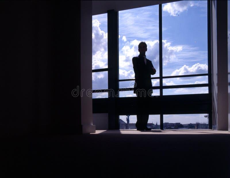 Download Affärsman arkivfoto. Bild av affär, silhouette, nytt, framtidsutsikt - 41008