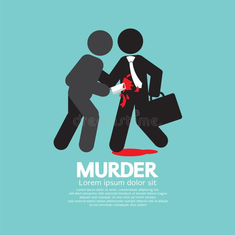 Affärsman Being Stabbed With en kniv vektor illustrationer