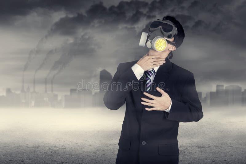 Affärsman hårt som andas arkivfoton