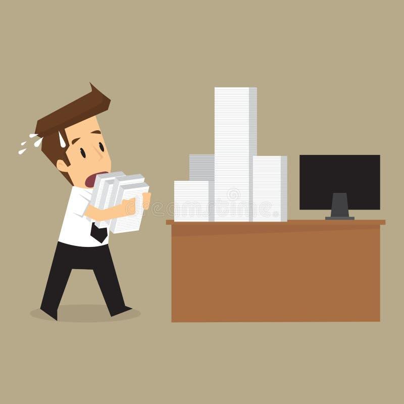 Affärsman Hard Working vektor illustrationer