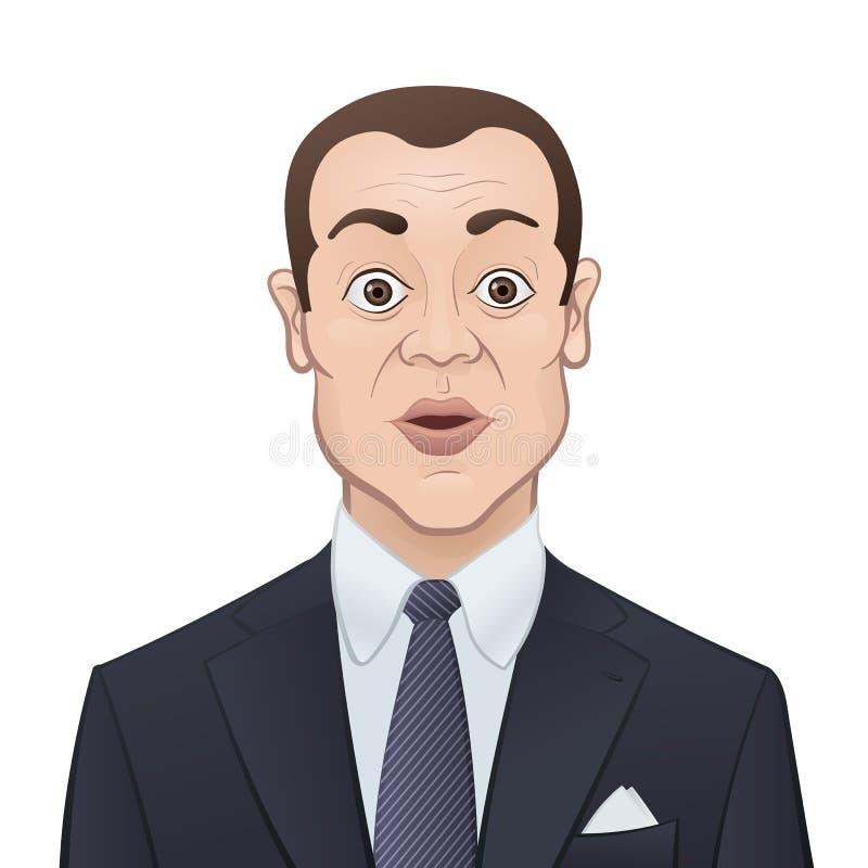 Download Affärsman I En Dräkt Och Band På Vit Bakgrund Vektor Illustrationer - Illustration av affärsman, omslag: 37347216