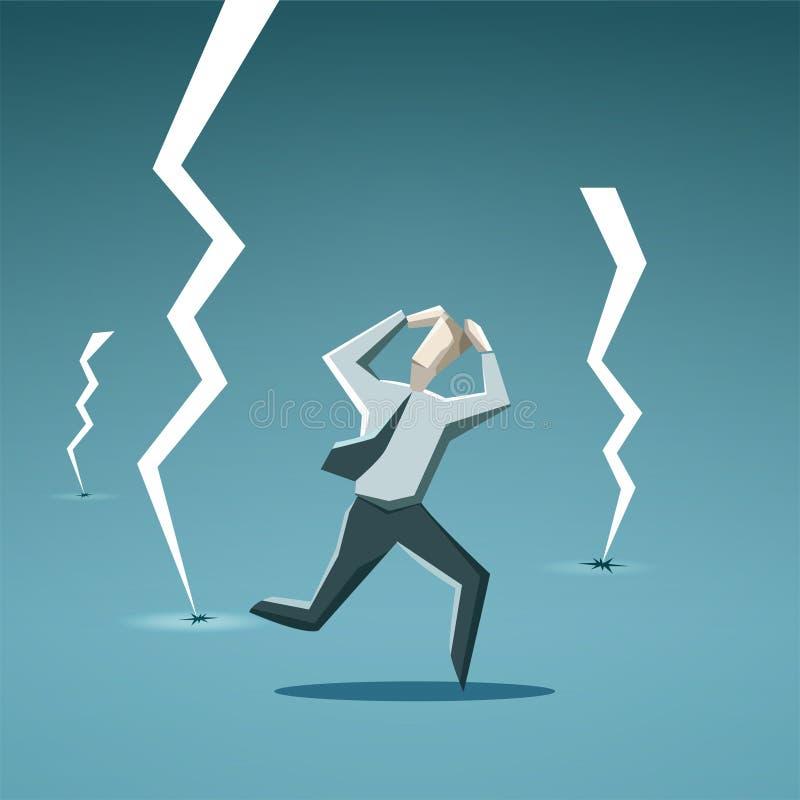 Affärsman i kris stock illustrationer
