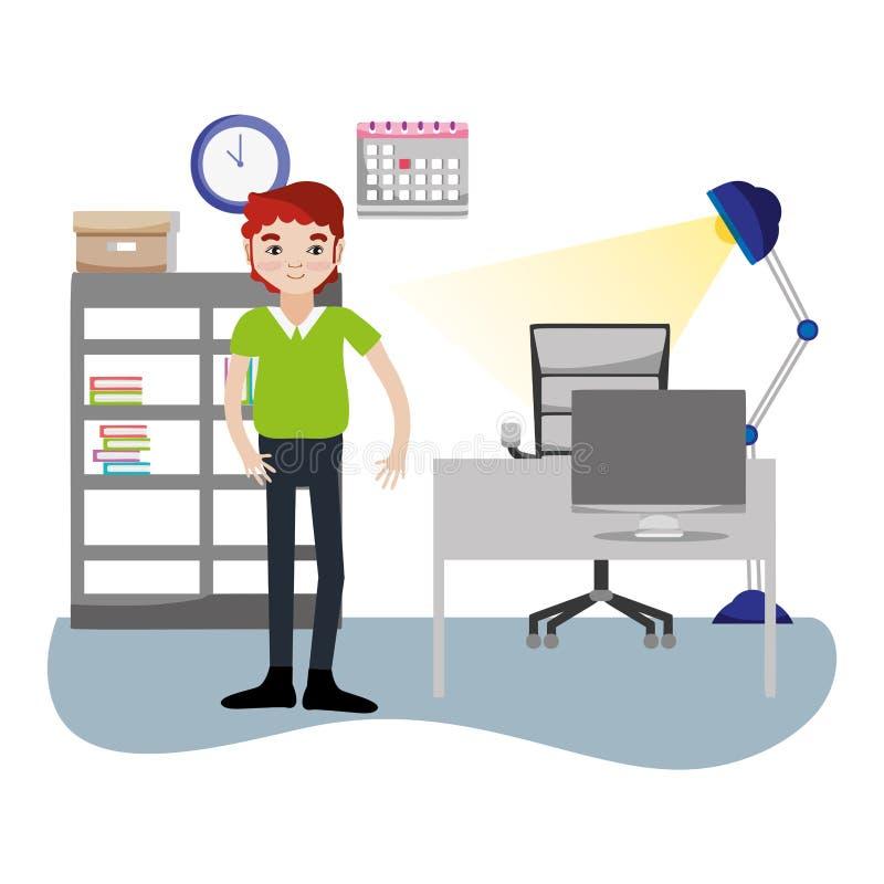 Affärsman i regeringsställning royaltyfri illustrationer