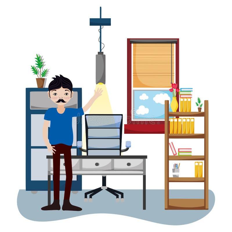 Affärsman i regeringsställning stock illustrationer