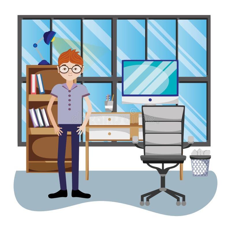 Affärsman i regeringsställning vektor illustrationer