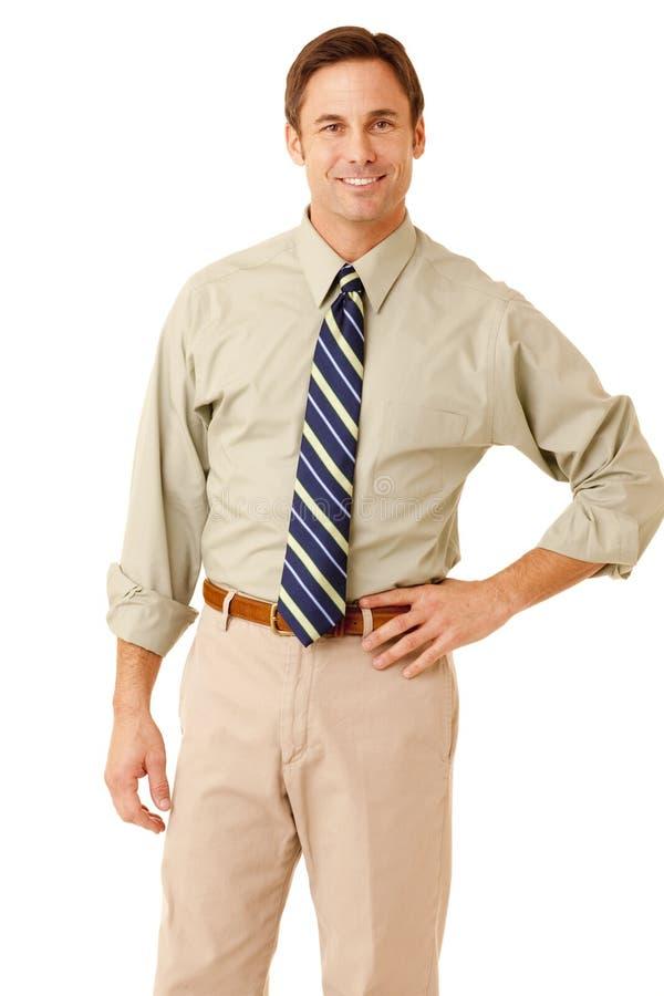 Affärsman i skjorta och tie royaltyfria foton