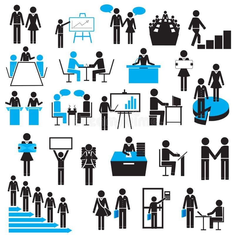 Affärsman Icon stock illustrationer