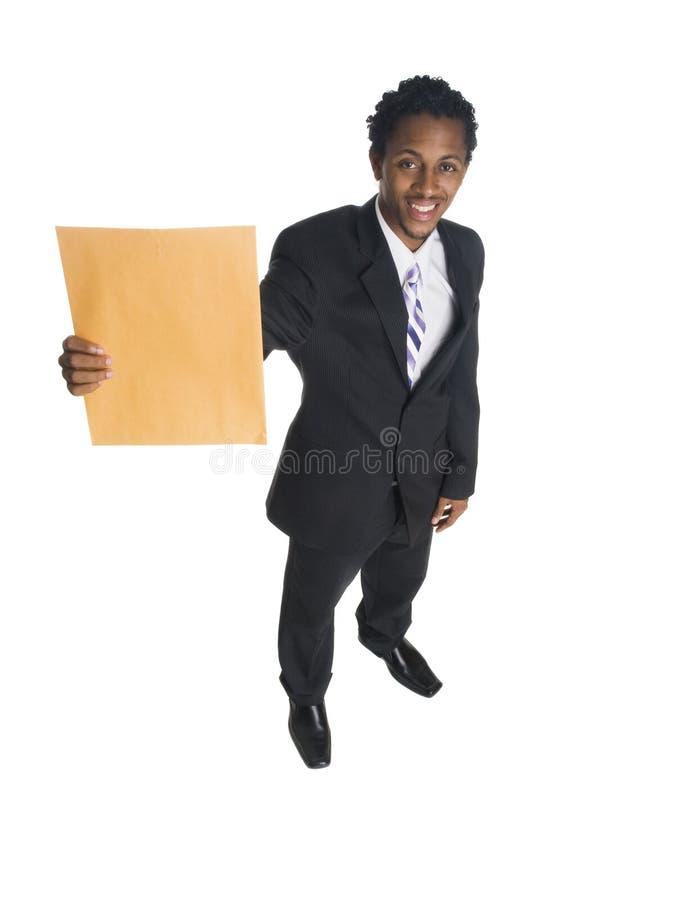 Affärsman - kontorsbokstav arkivfoton