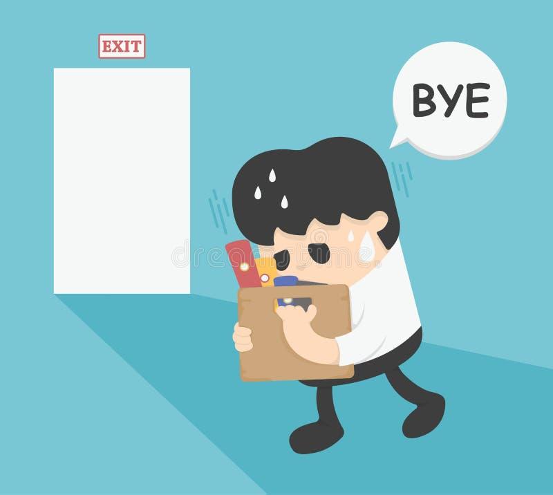 Affärsman Leaving Job vektor illustrationer