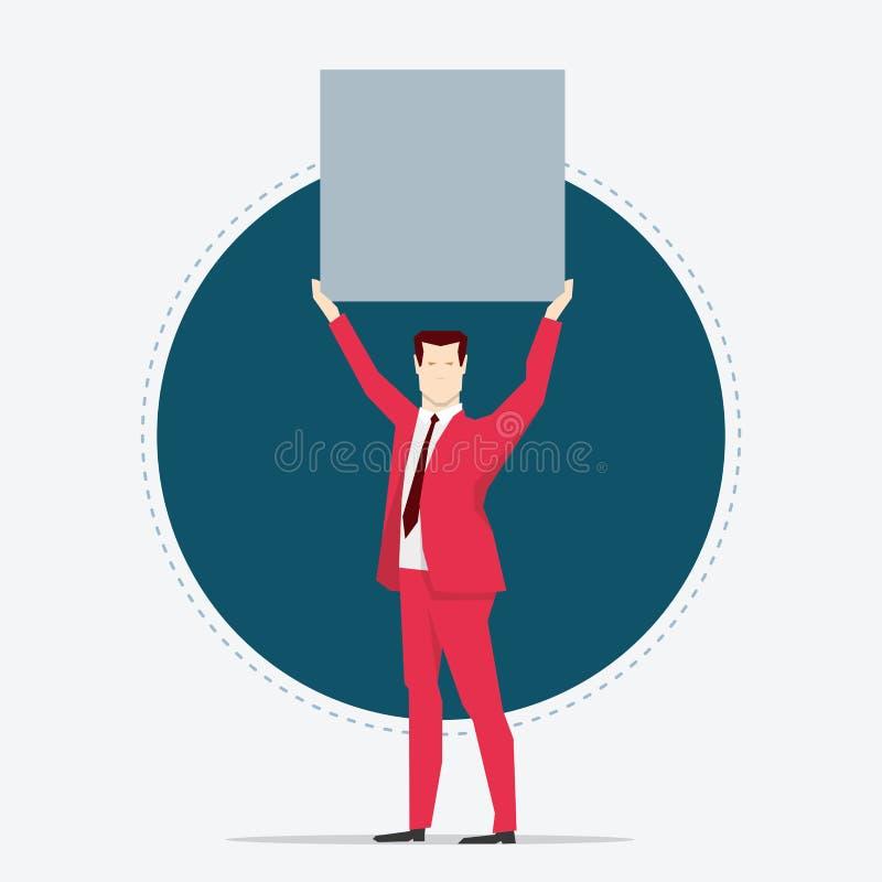 Affärsman Lifting stock illustrationer