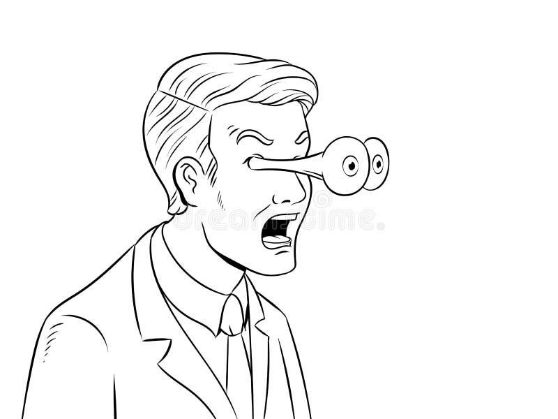 Affärsman med att poppa ögon som färgar vektorn stock illustrationer