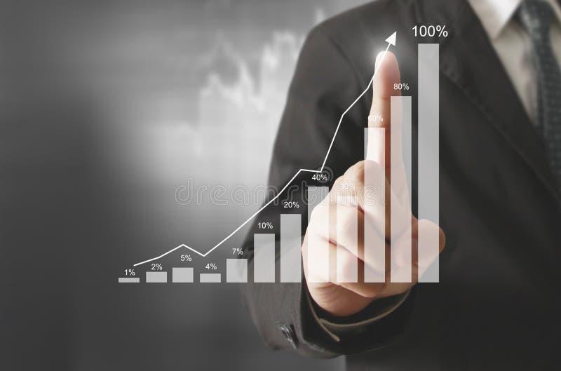 Affärsman med finansiellt vektor illustrationer
