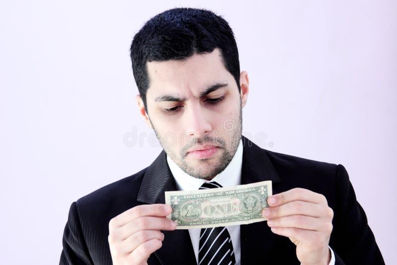 Affärsman med pengar royaltyfri fotografi
