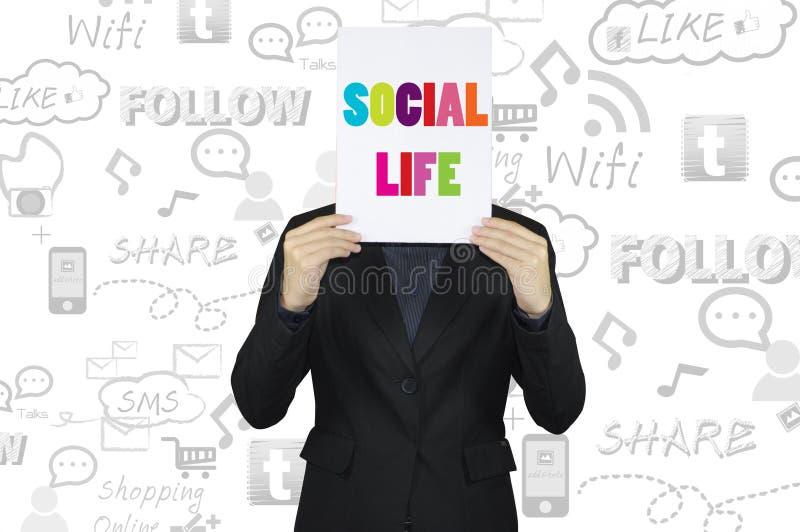 Affärsman och begrepp för socialt liv fotografering för bildbyråer
