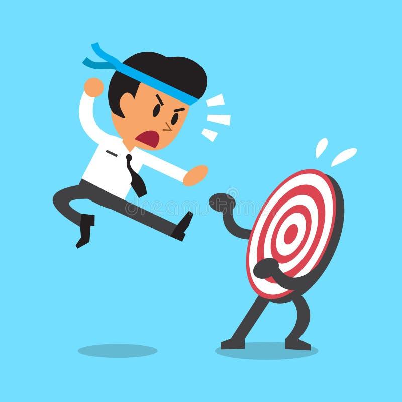 Affärsman och ett mål vektor illustrationer
