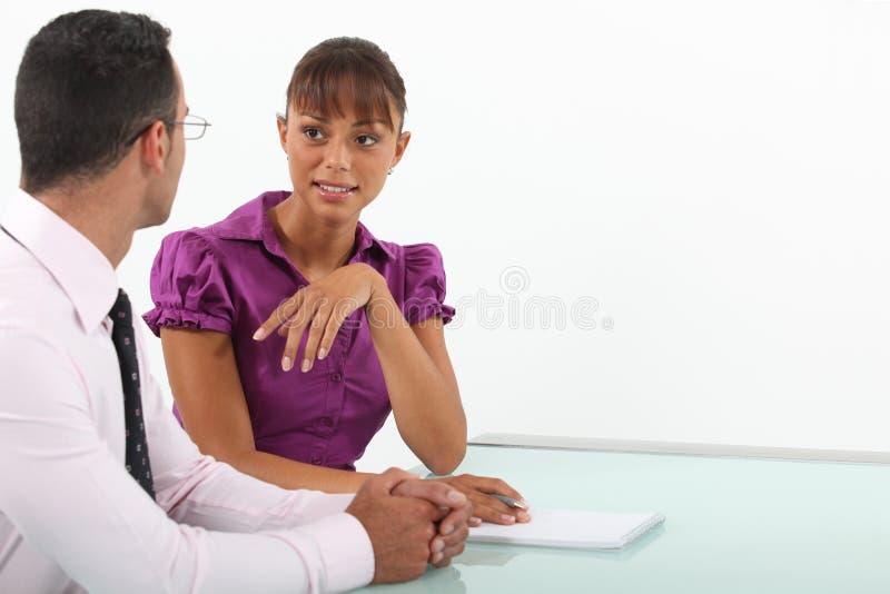 Affärsman och kvinna royaltyfria foton