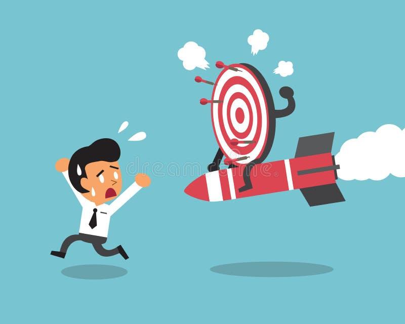 Affärsman och mål stock illustrationer
