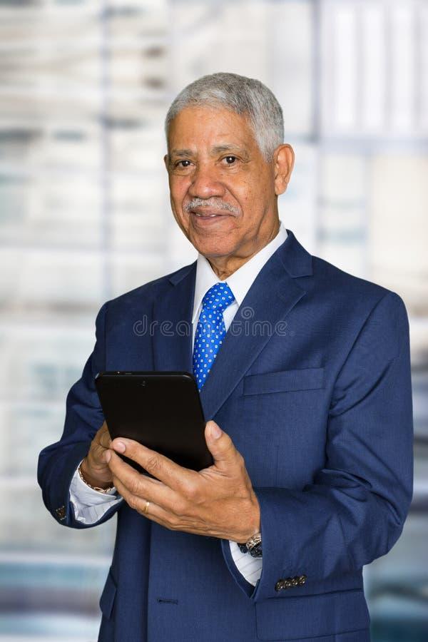 Affärsman på arbete arkivbild