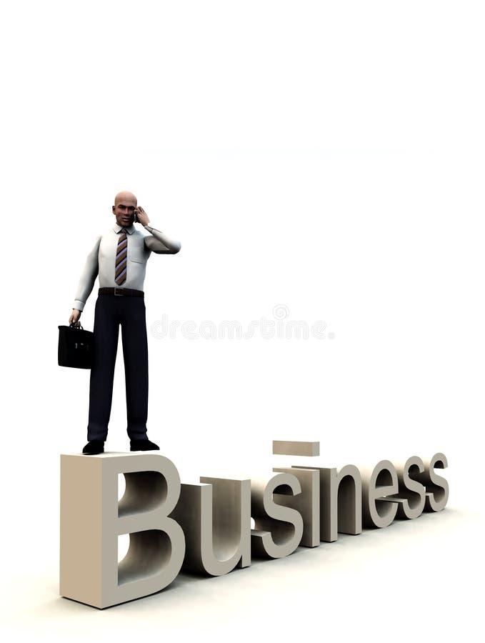 Affärsman på ord 3 stock illustrationer