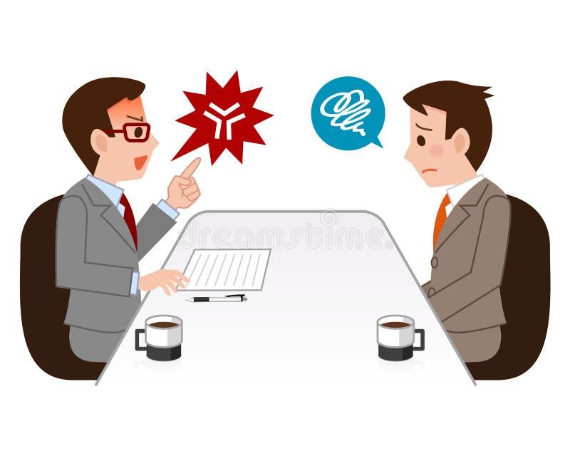 Affärsman som är ilsken royaltyfri illustrationer