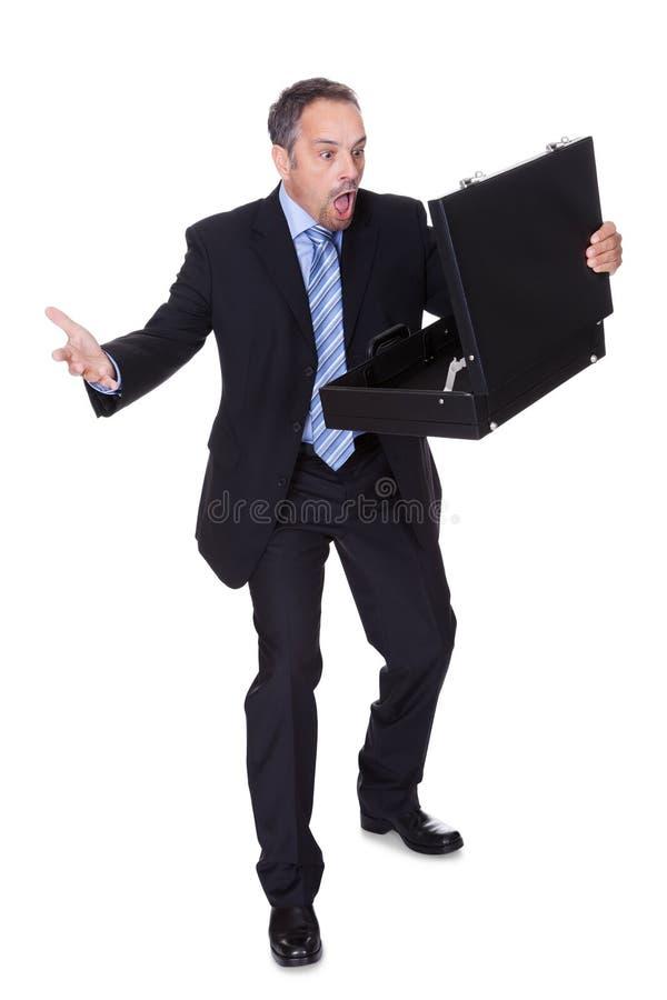Affärsman som chockas, genom att förlora pengar royaltyfria bilder