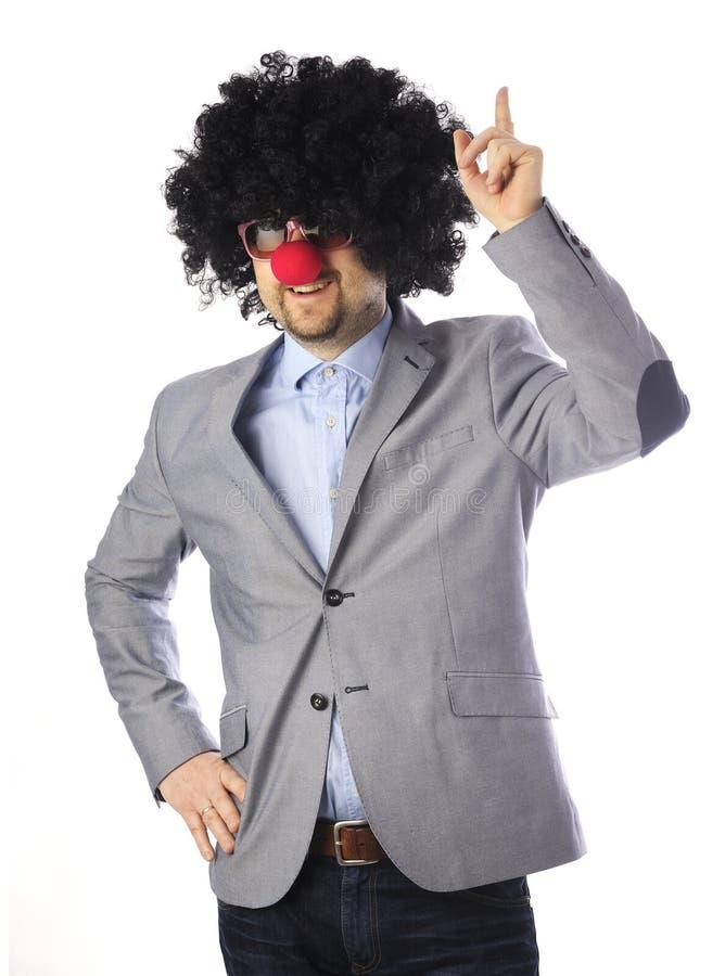 Affärsman som en clown royaltyfri foto