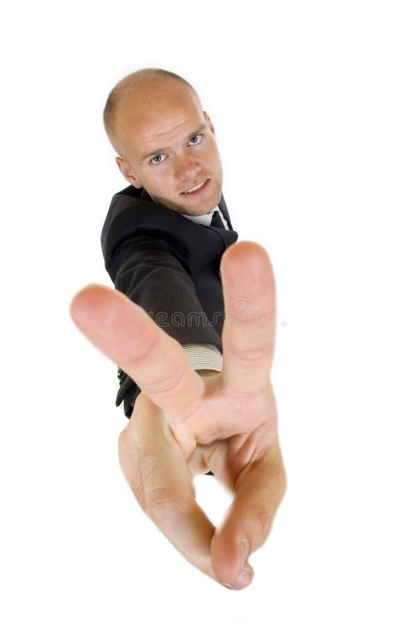 affärsman som mycket göra en gest lyckligt lyckat royaltyfri fotografi