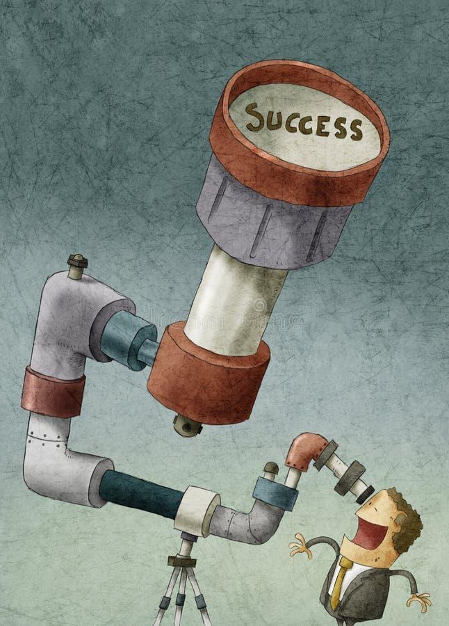 Affärsman som söker efter framgång vektor illustrationer