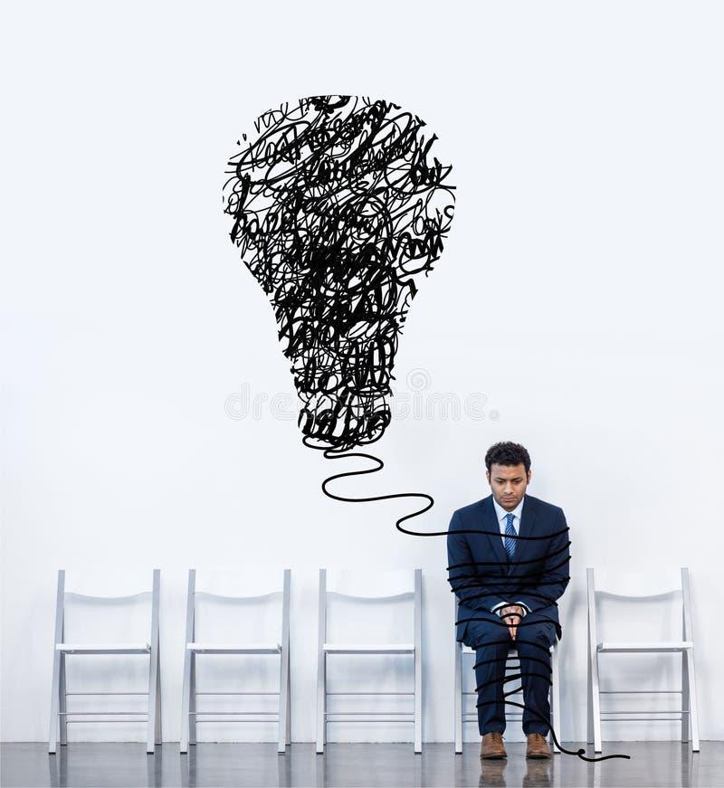 Affärsman som sitter på stol vektor illustrationer