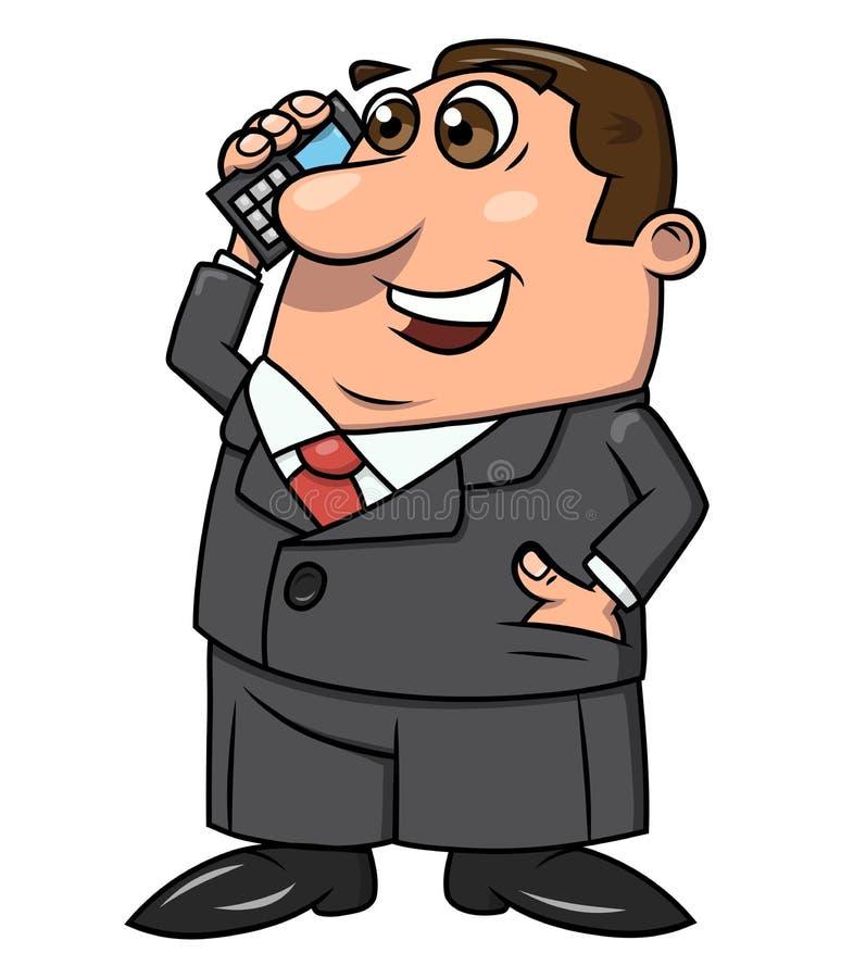 Affärsman som talar på telefon 4 royaltyfri illustrationer