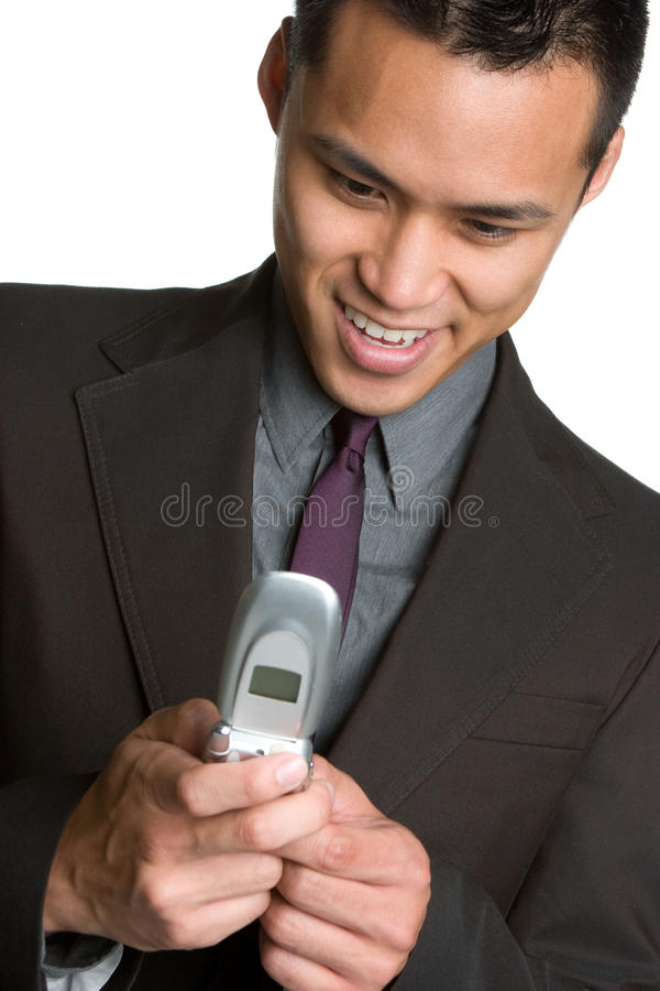 affärsman som texting royaltyfria foton