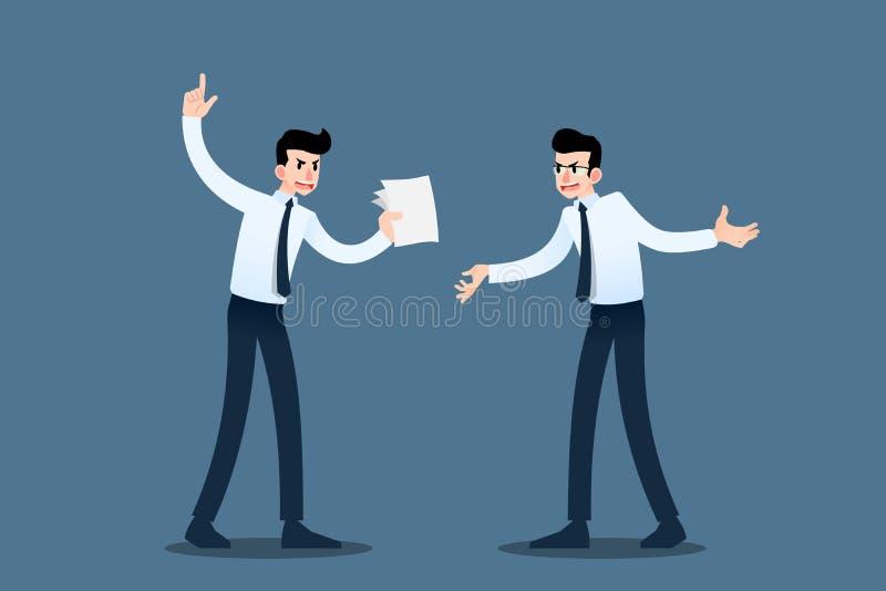 Affärsman som två omkring konsulterar sig för att förbättra deras handla som når vinstmålet och som gör deras organisationssucces royaltyfri illustrationer
