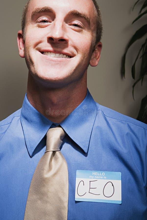Affärsman som uppnår framgång fotografering för bildbyråer
