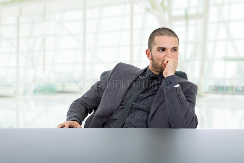 Affärsman tänker arkivfoton