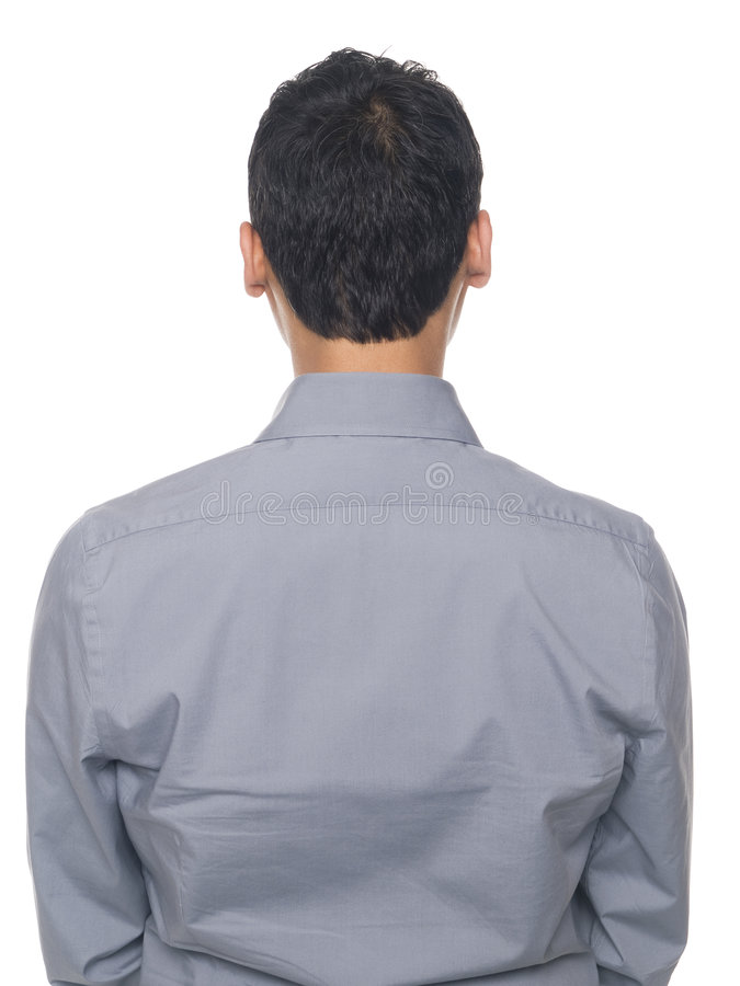 Affärsman - tillbaka torso arkivbilder