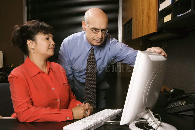affärsmanaffärskvinna arkivbilder