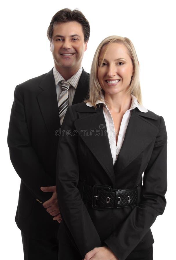 affärsmanaffärskvinna royaltyfri foto