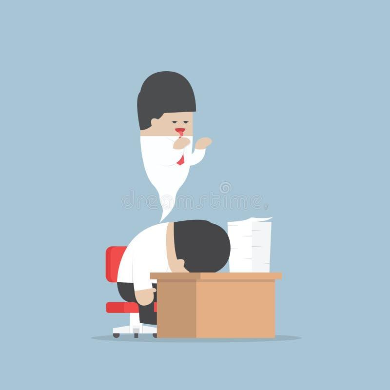 Affärsmanarbete hårt, tills dött vektor illustrationer