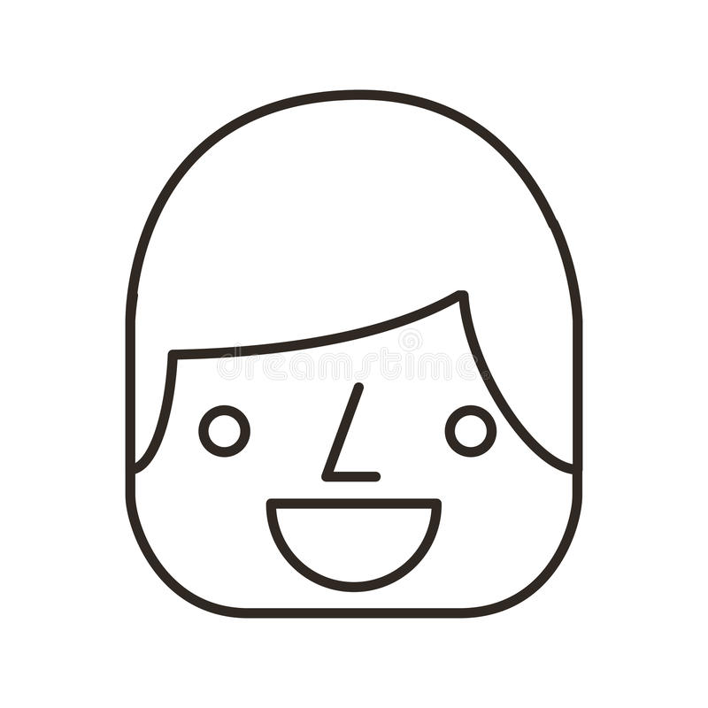 affärsmanavatarlinje symbol vektor illustrationer