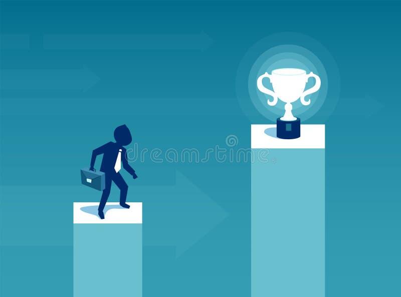 Affärsmanbegär för triumf- pris vektor illustrationer