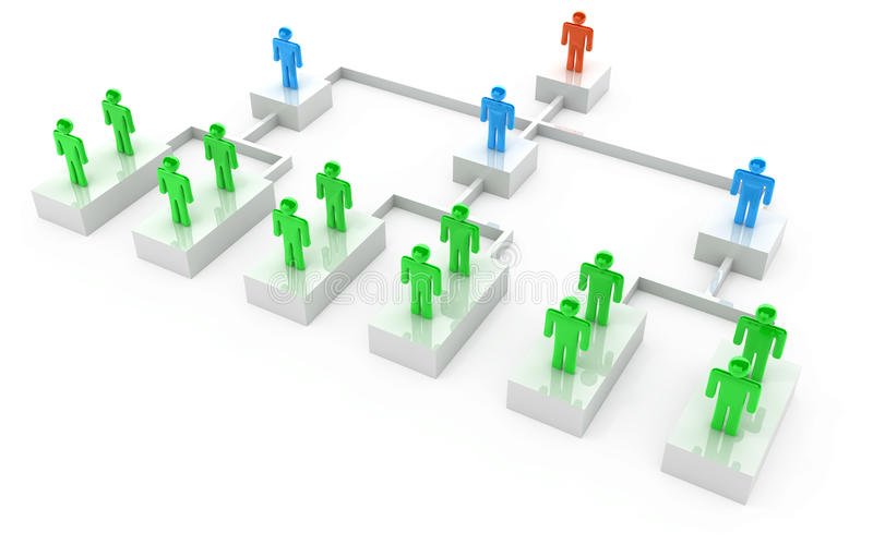 affärsmandiagramorganisation stock illustrationer