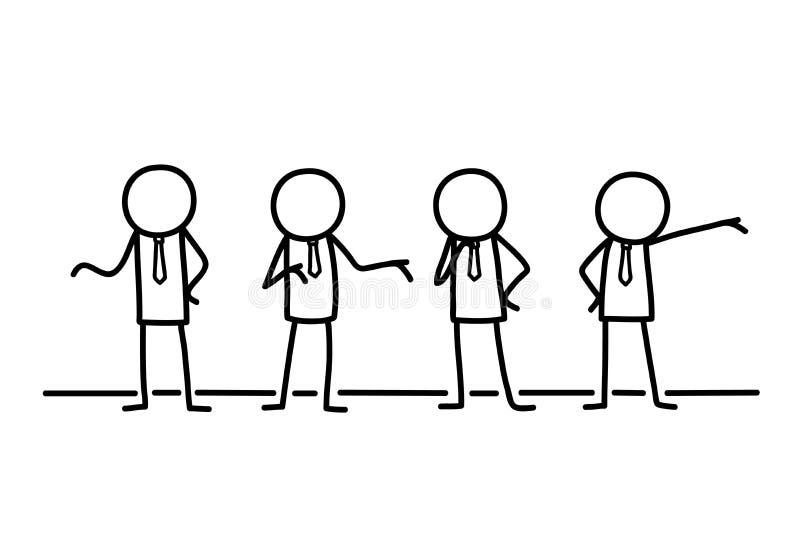 Affärsmanegenföretagande Partners Group klottrar royaltyfri illustrationer