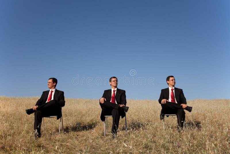 affärsmanfält tre royaltyfria bilder