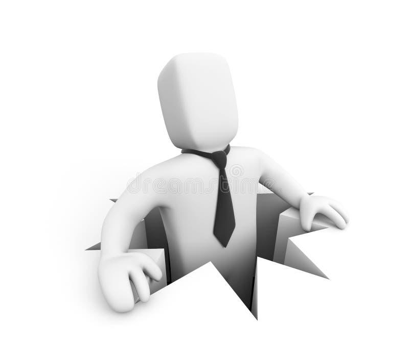 affärsmanhål vektor illustrationer