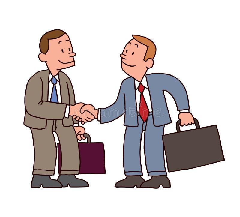 Affärsmanhandskakning vektor illustrationer