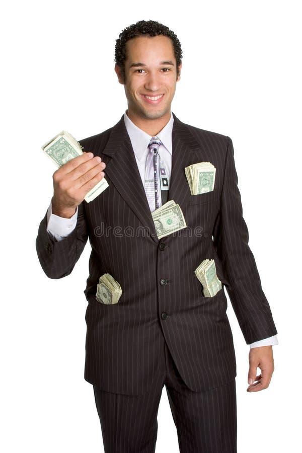 affärsmanholdingpengar royaltyfri foto