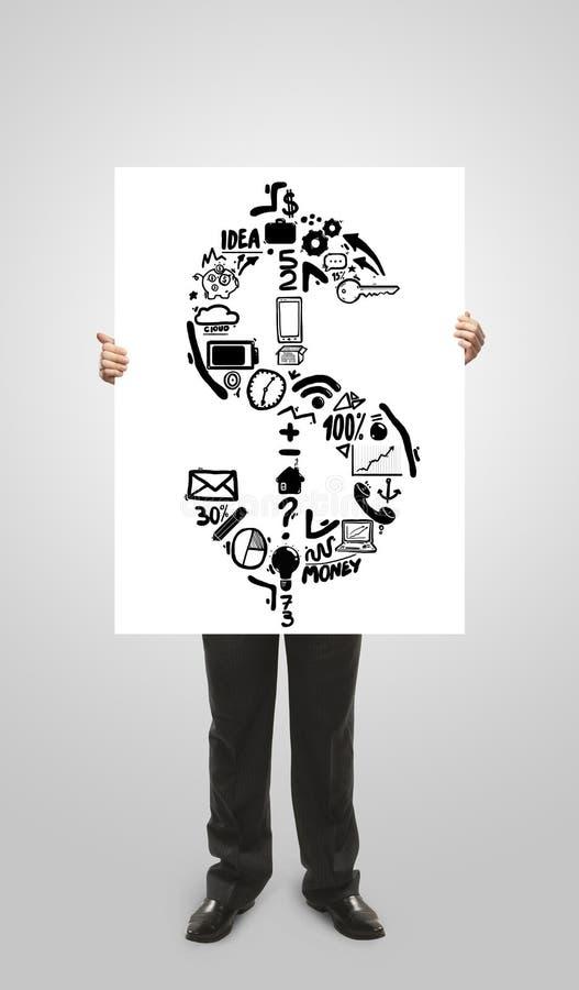 Affärsmaninnehavplakat arkivbilder