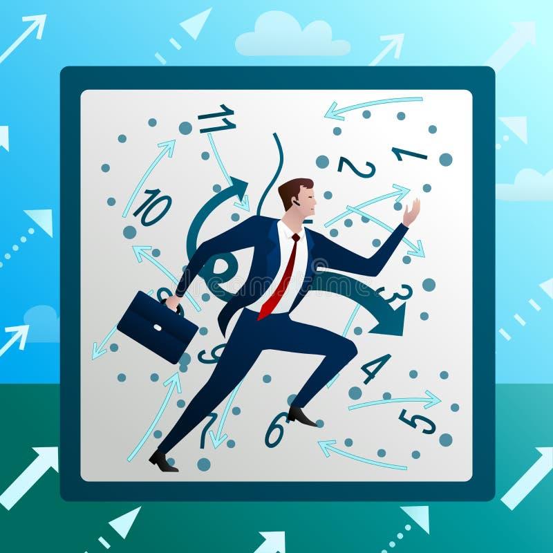 Affärsmankörningar mot på kaotiska timmar vektor illustrationer