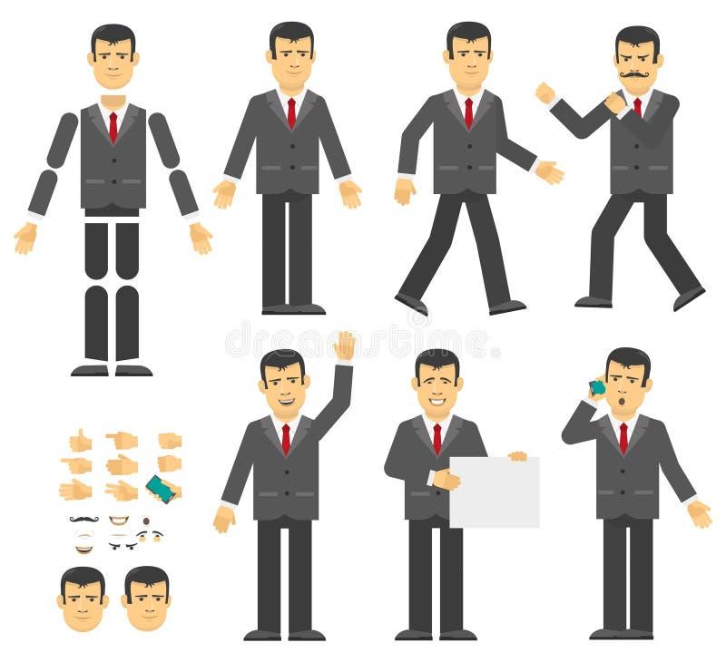 Affärsmankonstruktör vektor illustrationer